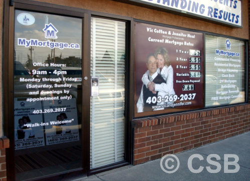 Lettering Decals Window Graphics Calgary