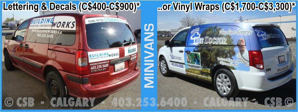 Minivan Decals And Wraps Prices Calgary Alberta