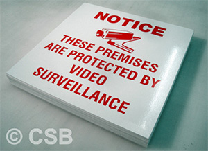 Notice Protected By Video Surveillance