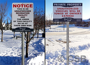 Notice Unsupervised Recreation Facility