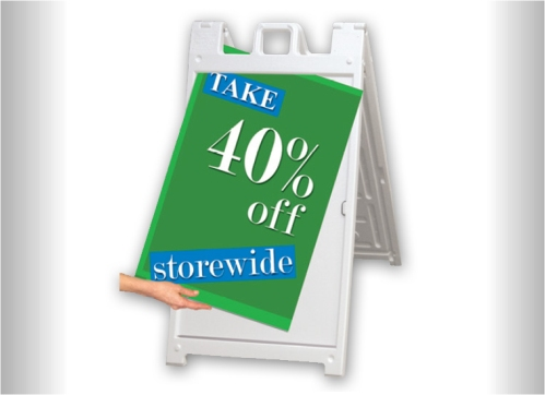 Outdoor Sidewalk Lawn Sign Changeable Graphic