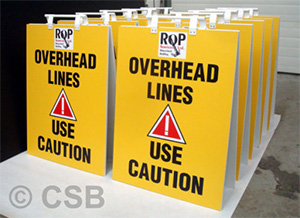 Overhead Lines Use Caution