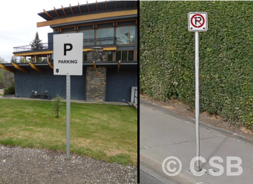 Parking Signs with Rigid Post