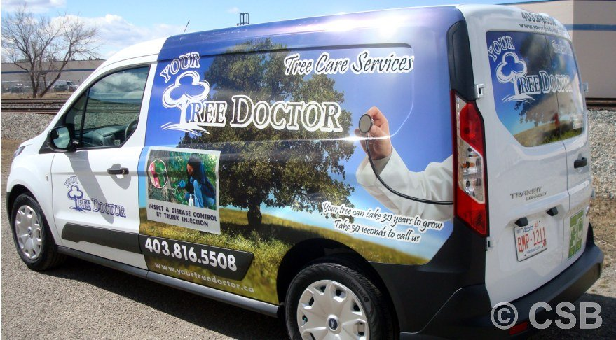 Partial Car Wrap Calgary By CSB