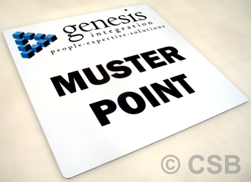 Personalized Muster Point Sign