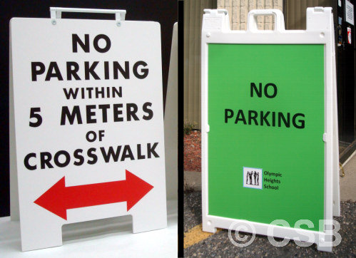Portable Parking Signage For Schools