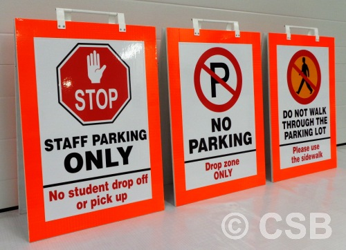 Portable Parking Signs With Reflective Edge