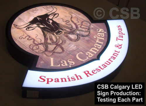 Printed Vinyl Face on LED sign cap Calgary