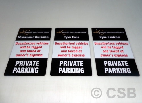 Private Parking Unauthorized Vehicles Will Be Towed Personalized Signs