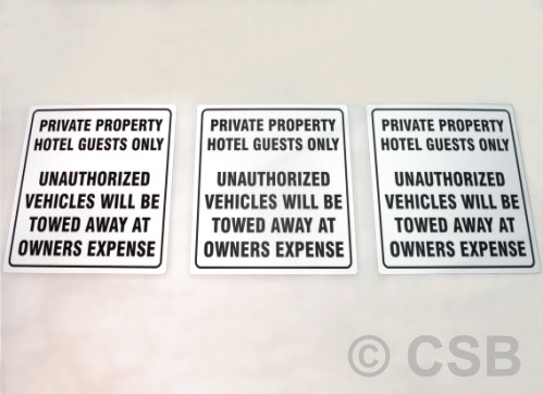 Private Property Signs For Hotels