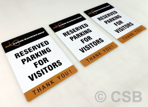 Reserved Parking For Visitors Personalized Signs