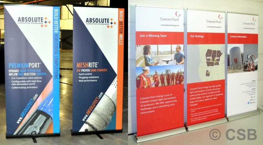 Retractable Roll-Up Banners Displays Calgary