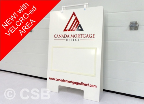 Sandwich Board With Velcro For Replaceable Sign