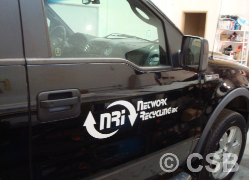 One Colour Cut Vinyl Decals For Truck Doors