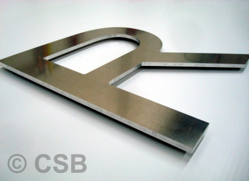 Calgary AB. Letters Cut From Solid Aluminum