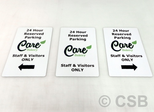Staff Visitors 24 Hour Reserved Parking Signs Personalized