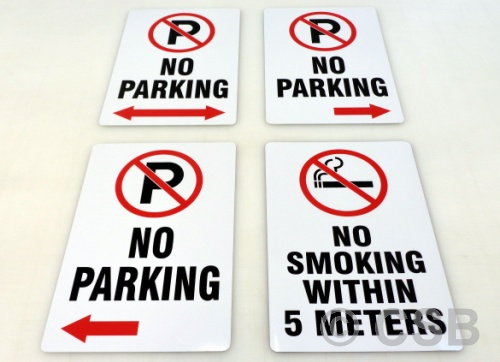 Standard No-Parking Signs With Zone Limits