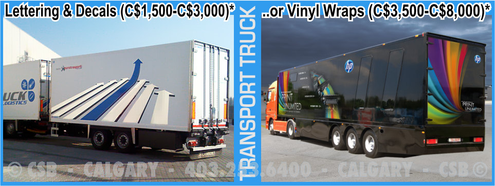 Transport Truck Decals And Wraps Prices Calgary Alberta