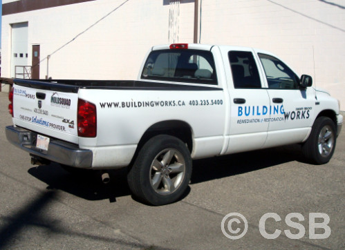 Truck Decals on Doors Back Panels And Tailgate