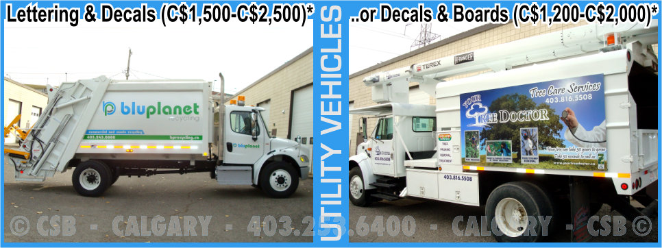 Utility Vehicles Decals And Wraps Prices Calgary Alberta
