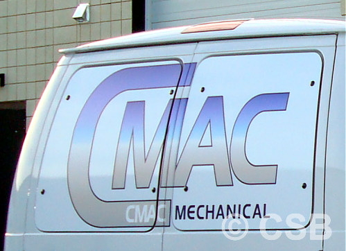 Van Back Windows Vinyl Decal Calgary