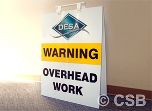 Warning Overhead Work