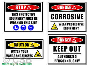 Warning OSHA Safety Signs