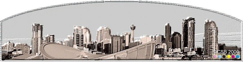 Calgary Skyline Downtown Office Towers