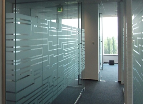 Window frosting calgary glass etching for office windows for Office doors with windows